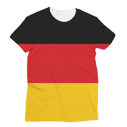 Basic Flag Of Germany Sublimation T-Shirt Apparel Flagdesignproducts.com