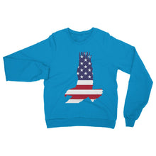 Usa Flag American Eagle Heavy Blend Crew Neck Sweatshirt Apparel Flagdesignproducts.com