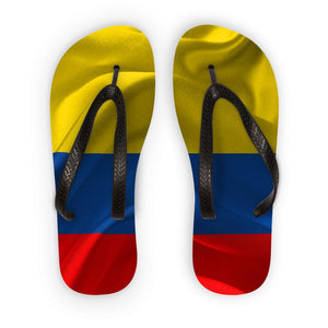 Waving Fabric Colombia Flag Flip Flops Accessories Flagdesignproducts.com