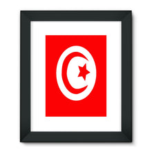 Flag Of Tunisia Framed Fine Art Print Wall Decor Flagdesignproducts.com