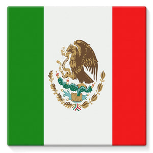 Flag Of Mexico Stretched Eco-Canvas Wall Decor Flagdesignproducts.com