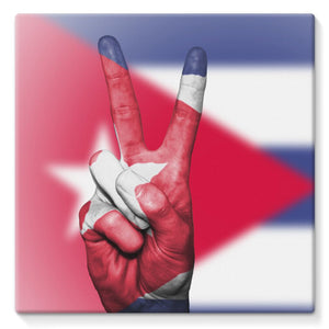 Cuba Flag And Hand Stretched Canvas Wall Decor Flagdesignproducts.com