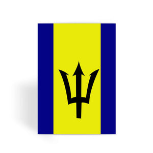 Flag Of Barbados Greeting Card Prints Flagdesignproducts.com