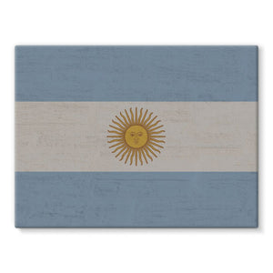 Argentina Stone Wall Flag Stretched Canvas Decor Flagdesignproducts.com