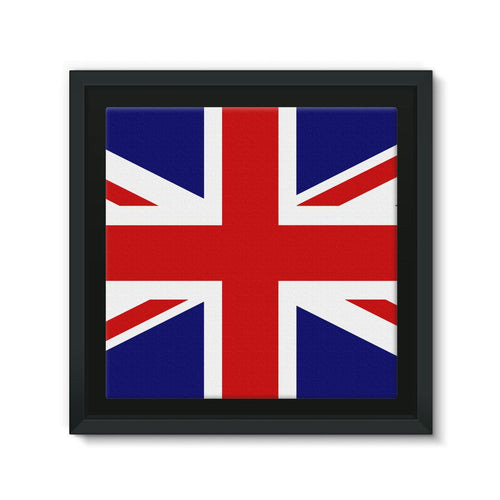Basic United Kingdom Flag Framed Canvas Wall Decor Flagdesignproducts.com