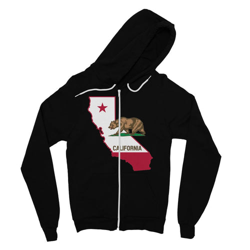 California State Flag Fine Jersey Zip Hoodie Apparel Flagdesignproducts.com