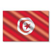 Waving Tunisia Flag Stretched Canvas Wall Decor Flagdesignproducts.com