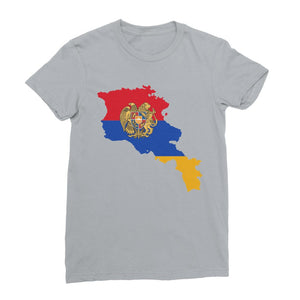 Armenia Continent Flag Womens Fine Jersey T-Shirt Apparel Flagdesignproducts.com