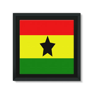 Flag Of Ghana Framed Canvas Wall Decor Flagdesignproducts.com