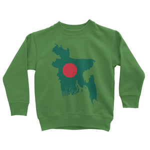 Bangladesh Continent Flag Kids Sweatshirt Apparel Flagdesignproducts.com
