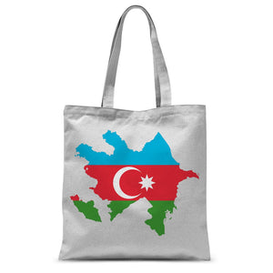 Azerbaijan Continent Flag Sublimation Tote Bag Accessories Flagdesignproducts.com