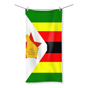 Flag Of Zimbabwe Beach Towel Homeware Flagdesignproducts.com