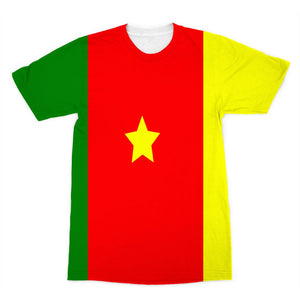 Flag Of Cameroon Sublimation T-Shirt Apparel Flagdesignproducts.com