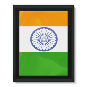 Waving Flag Of India Framed Canvas Wall Decor Flagdesignproducts.com