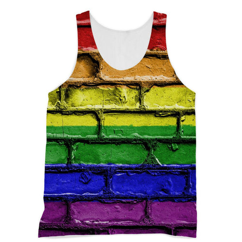 Colorful Lgbt Rainbow Flag Sublimation Vest Apparel Flagdesignproducts.com