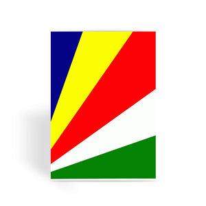 Flag Of Seychelles Greeting Card Prints Flagdesignproducts.com