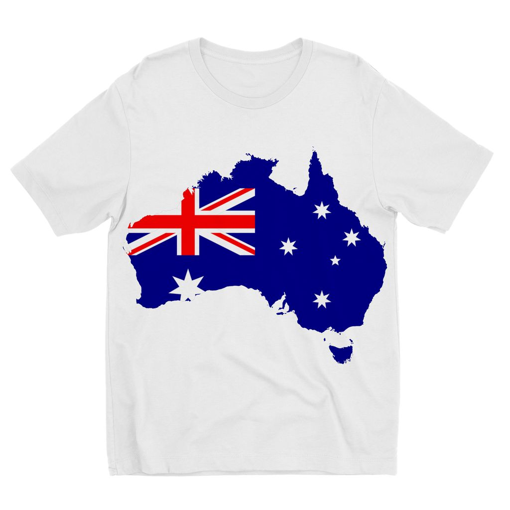 Australia Continent Flag Kids Sublimation T-Shirt Apparel Flagdesignproducts.com