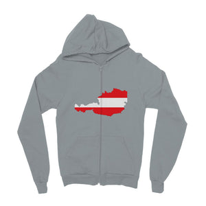 Austria Continent Flag Kids Zip Hoodie Apparel Flagdesignproducts.com