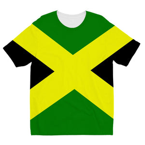 Flag Of Jamaica Kids Sublimation T-Shirt Apparel Flagdesignproducts.com
