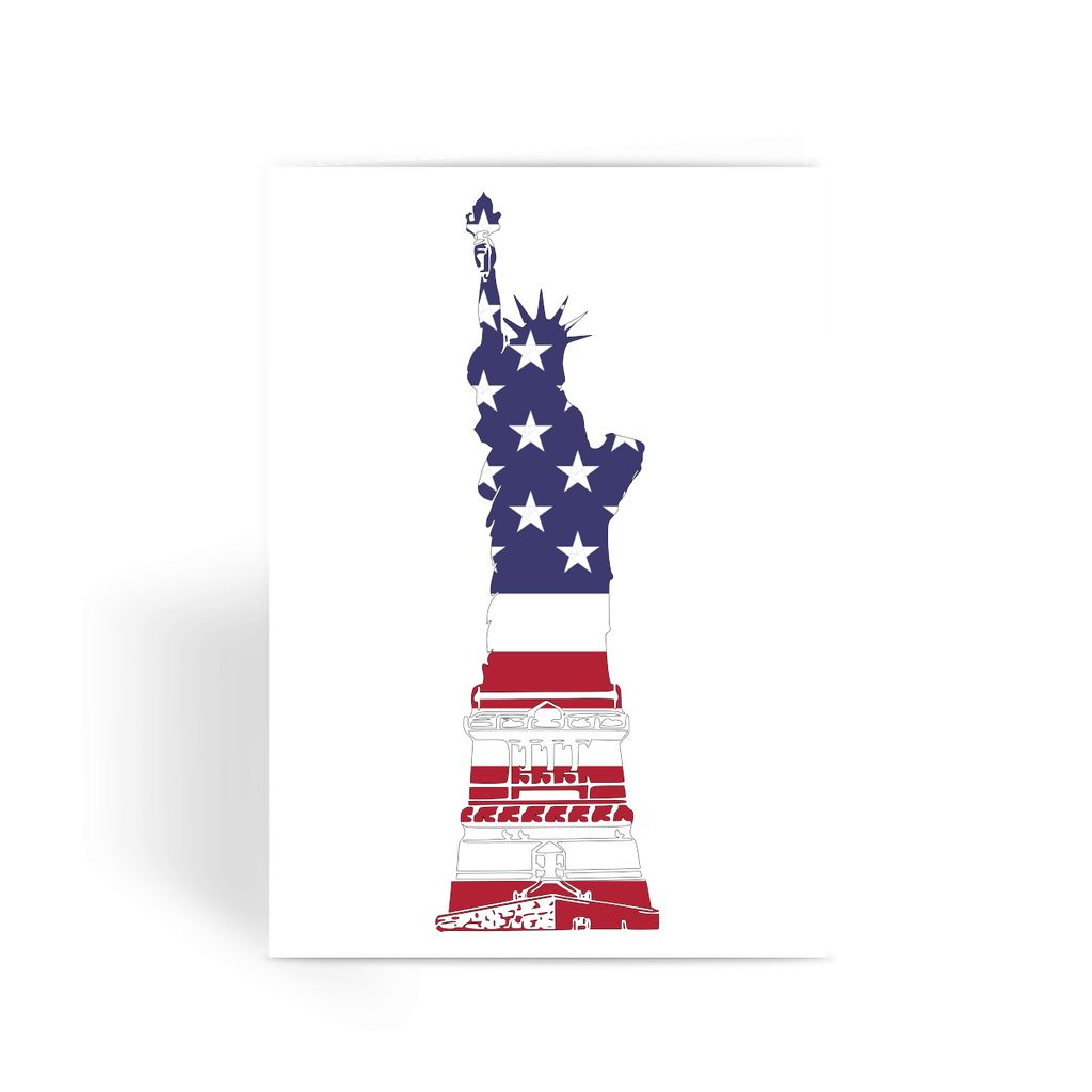 Usa Flag State Of Liberty Greeting Card Prints Flagdesignproducts.com