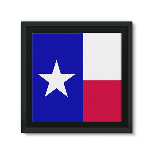 Basic Texas Flag Framed Eco-Canvas Wall Decor Flagdesignproducts.com