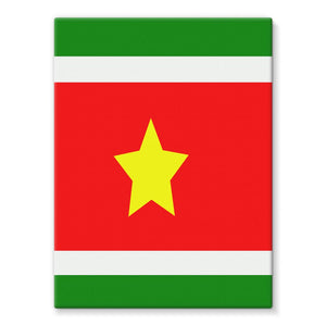 Flag Of Suriname Stretched Canvas Wall Decor Flagdesignproducts.com