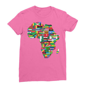 Africa Countries Flag Womens Fine Jersey T-Shirt Apparel Flagdesignproducts.com