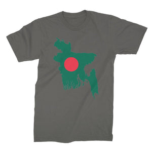 Bangladesh Continent Flag Unisex Fine Jersey T-Shirt Apparel Flagdesignproducts.com