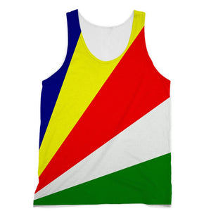 Flag Of Seychelles Sublimation Vest Apparel Flagdesignproducts.com