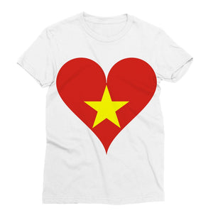 Vietnam Heart Flag Sublimation T-Shirt Apparel Flagdesignproducts.com