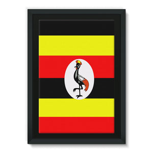 Flag Of Uganda Framed Canvas Wall Decor Flagdesignproducts.com