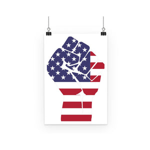 America First Hand Flag Poster Wall Decor Flagdesignproducts.com
