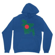 Bangladesh Continent Flag Heavy Blend Hooded Sweatshirt Apparel Flagdesignproducts.com