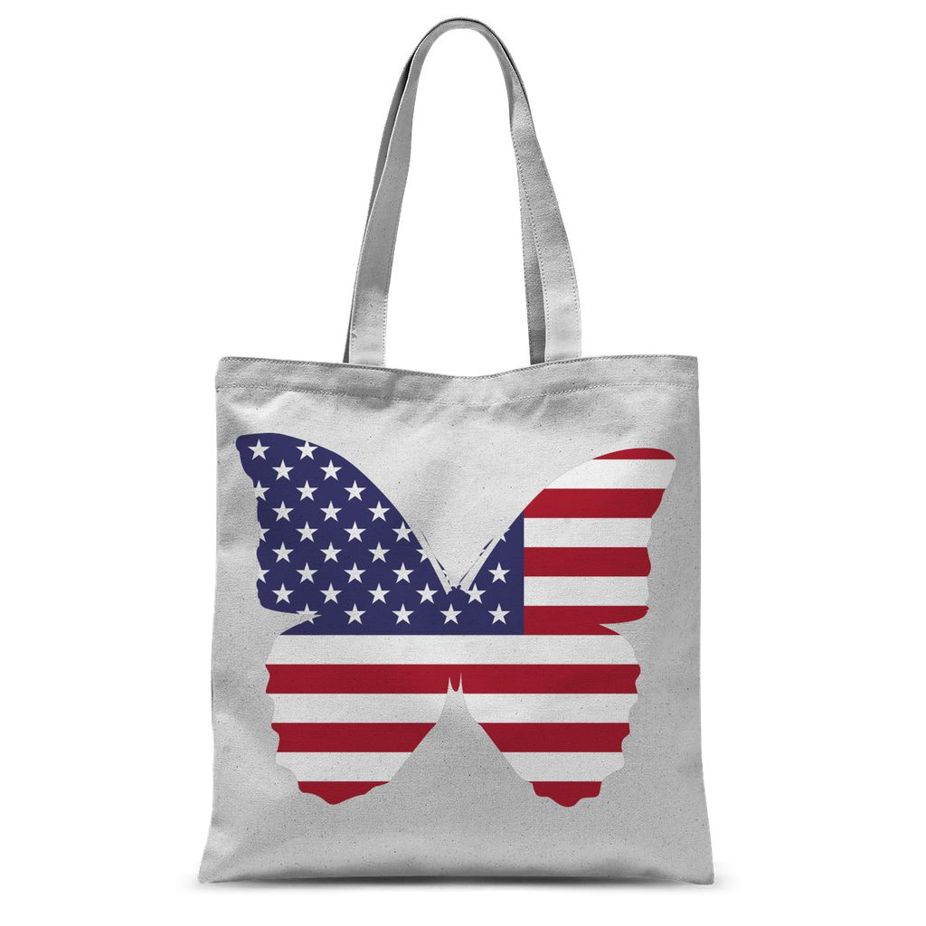 Usa Flag Butterfly Sublimation Tote Bag Accessories Flagdesignproducts.com