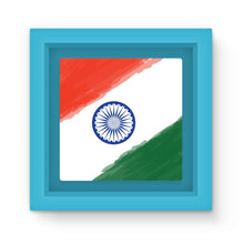Watercolor India Flag Magnet Frame Homeware Flagdesignproducts.com