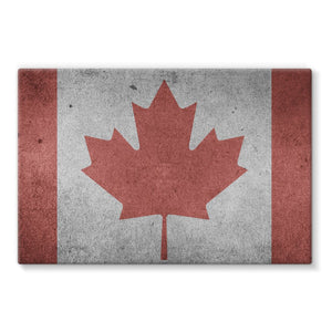 Vintage Grunge Canada Flag Stretched Eco-Canvas Wall Decor Flagdesignproducts.com