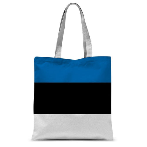 Basic Estonia Flag Sublimation Tote Bag Accessories Flagdesignproducts.com
