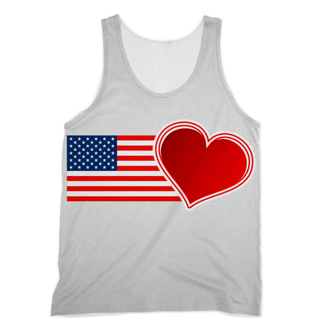Usa Flag And Heart Sublimation Vest Apparel Flagdesignproducts.com