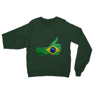 Brazil Hand Flag Heavy Blend Crew Neck Sweatshirt Apparel Flagdesignproducts.com