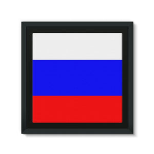 Basic Russian Flag Framed Eco-Canvas Wall Decor Flagdesignproducts.com