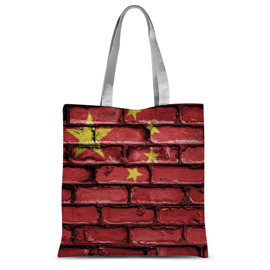 China Stone Brick Wall Flag Sublimation Tote Bag Accessories Flagdesignproducts.com