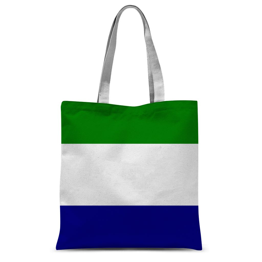 Flag Of Sierra Leone Sublimation Tote Bag Accessories Flagdesignproducts.com