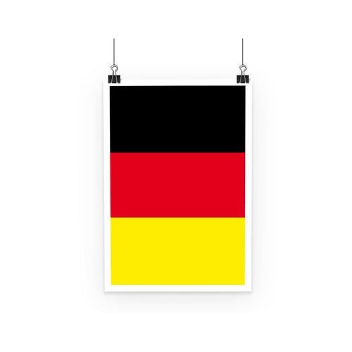 Deutsche Flagge Poster Wall Decor Flagdesignproducts.com