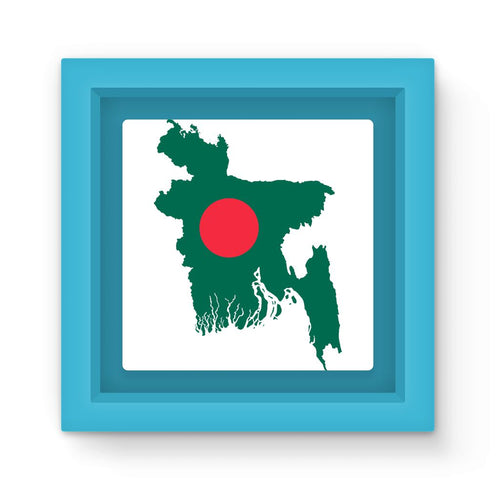 Bangladesh Continent Flag Magnet Frame Homeware Flagdesignproducts.com