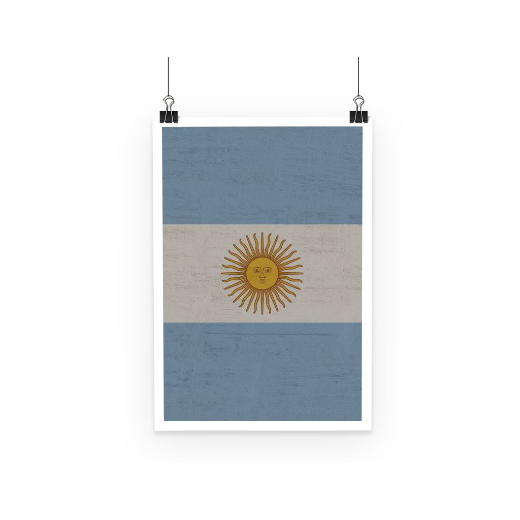 Argentina Stone Wall Flag Poster Decor Flagdesignproducts.com