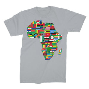 Africa Countries Flag Unisex Fine Jersey T-Shirt Apparel Flagdesignproducts.com