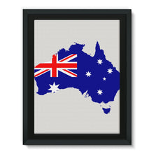 Australia Continent Flag Framed Eco-Canvas Wall Decor Flagdesignproducts.com
