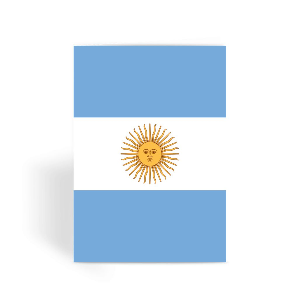 Argentina Flag Greeting Card Prints Flagdesignproducts.com