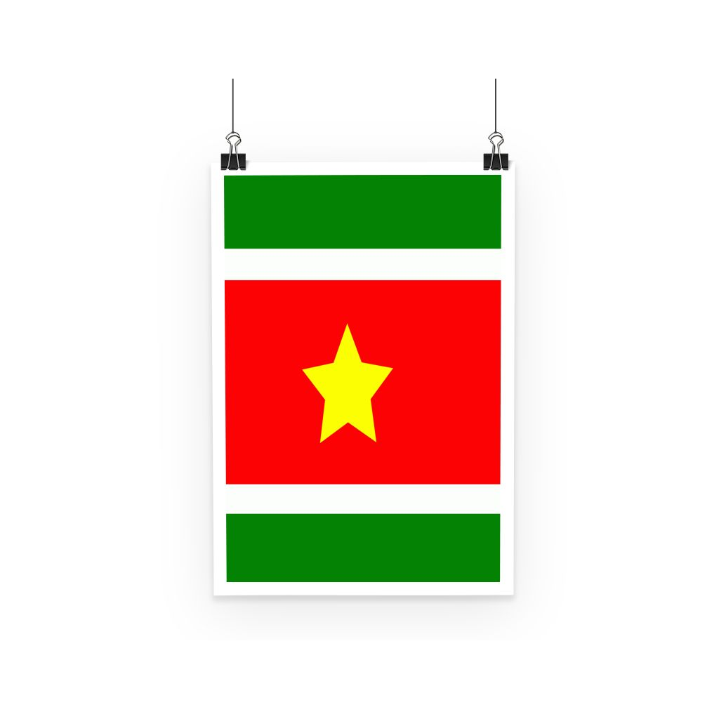 Flag Of Suriname Poster Wall Decor Flagdesignproducts.com