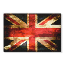 Dark Uk Flag Stretched Eco-Canvas Wall Decor Flagdesignproducts.com
